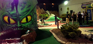 Miniature Golf at Night