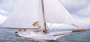 Photo of sailing Skipjack