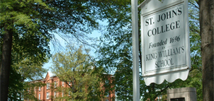 photo of St. John's College sign