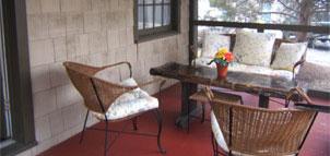 Porch at Cygnet Cottage