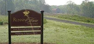 Running Hare signage