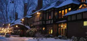 Gramercy Mansion exterior view in snow