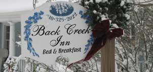 Back Creek Inn signage