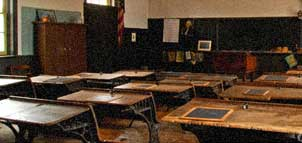 Wilson Country Schoolhouse interior