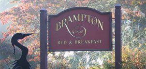 Brampton Bed and Breakfast Inn signage