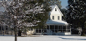 The Farm House in the Snow