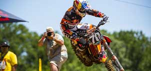 Motocross Rider On Course