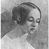 Black and White Illustration of Virginia Poe