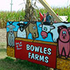 Photo of Bowles Farm Sign for Lawn Mower Race