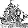 Illustration of an old haunted ship