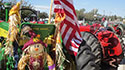 Antique Tractors decorated for Parade