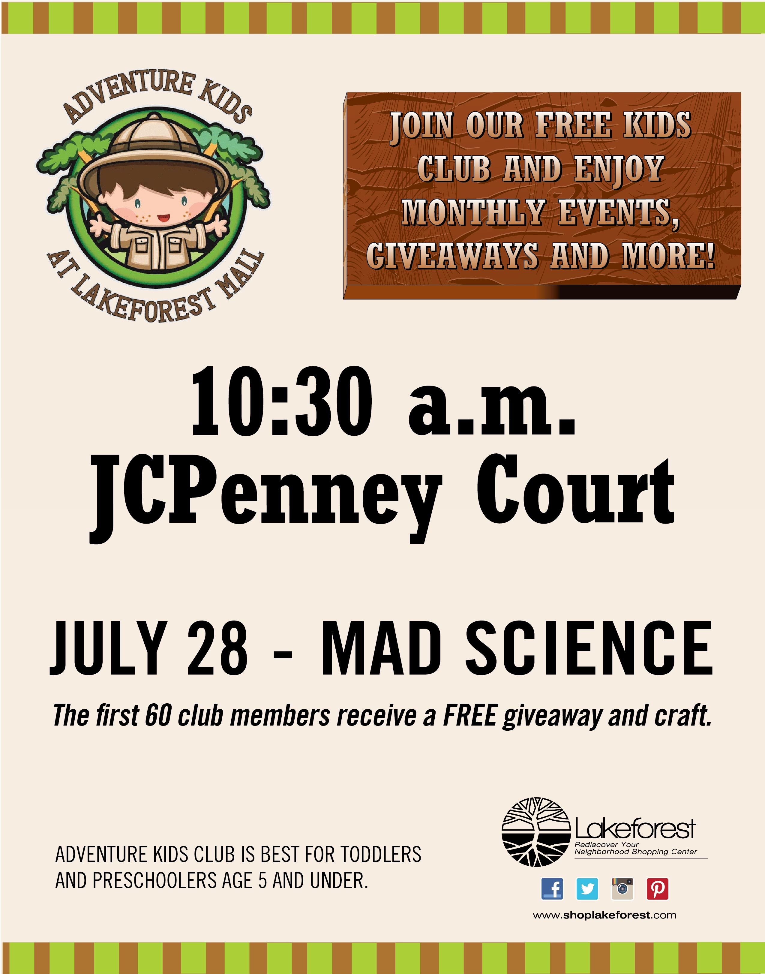 Thursday, July 28th, 2016 -- FREE kids event