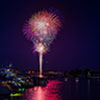 Fireworks over Annapolis on July 4th