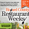 Poster for Howard County Restaurant Weeks