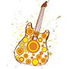 Guitar depicting live music