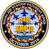 NAS Patuxent River Air Expo's colorful logo.