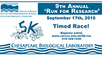 CBL 5K Run for Research poster