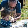 Artist Ken Karlic coaches a student