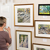 Viewing Plein Air art from Harford's 2015 Festival