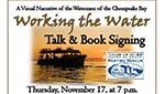 Working the Water Talk & Book Signing flyer