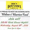 $15 Steak Dinner Night flyer