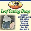 Leaf Casting Workshop flyer