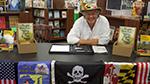 Jeff signing books