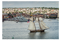 Pride of Baltimore II sails past Fells Point