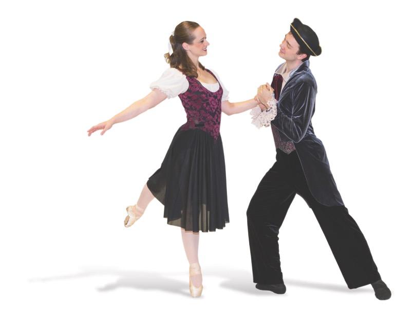 Ichabod Crane (Alden Taylor) and Katrina Van Tassel (Lynne Bellinger)