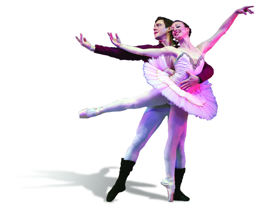Clara (Nicole Kelsch) dances with her Nutcracker Prince (Alexander Collen)