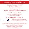 Finnish Christmas Bazaar 2016 flyer