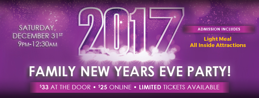 Bring in the New Year at Adventure Park USA!