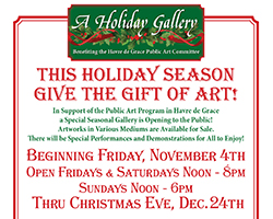 A Holiday Gallery flyer