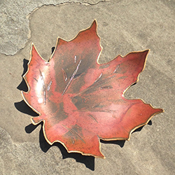Photo of a Maple Leaf Dish