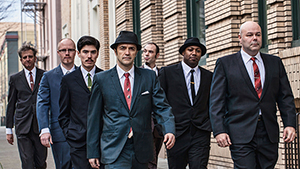 Cherry Poppin' Daddy group on the street