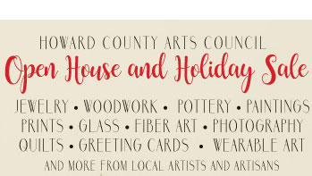 Howard County Arts Council Holiday Sale flyer