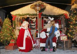 Image of Santa & Mrs. Claus at Santa's House