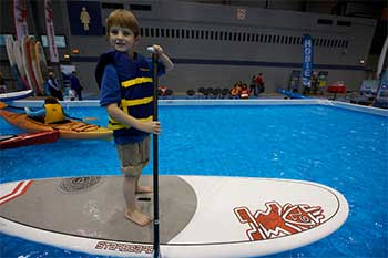 Photo of a young customer at the Boat Show