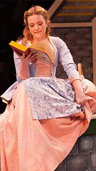 Photo of Belle enjoying her book