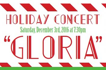 Holiday Concert poster featuring