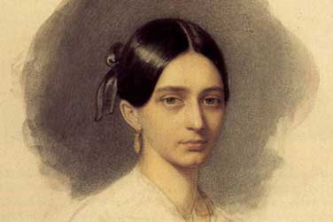 Painting of Clara Wieck Schumann from 1840