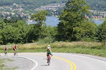 Photo of cyclists during Garrett County Gran Fondo