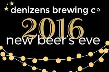 Flyer for Denizens Brewing New Beer's Eve