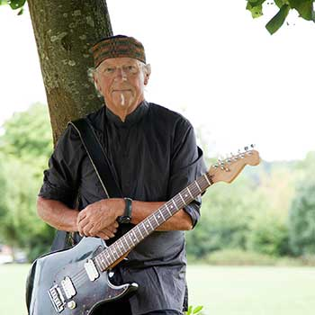 Martin Barre of Jethro Tull with his guitar