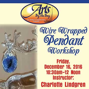 Wire Wrapped Pendant Workshop flyer