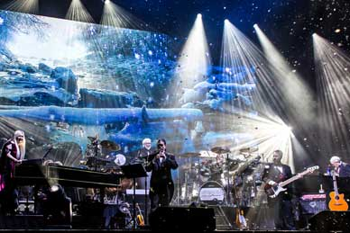 Mannheim Steamroller performs on stage
