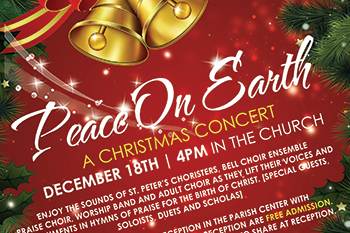 Peace on Earth Concert flyer