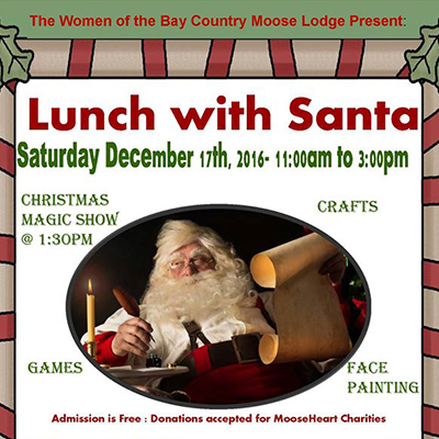 Lunch with Santa flyer