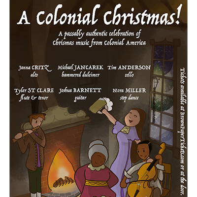 A Colonial Christmas poster