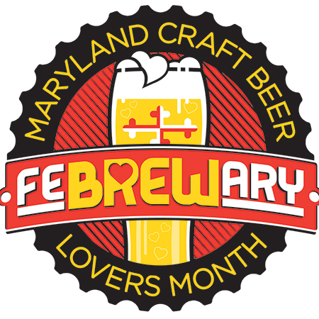 Maryland Craft Beer FeBREWary Lovers Month logo
